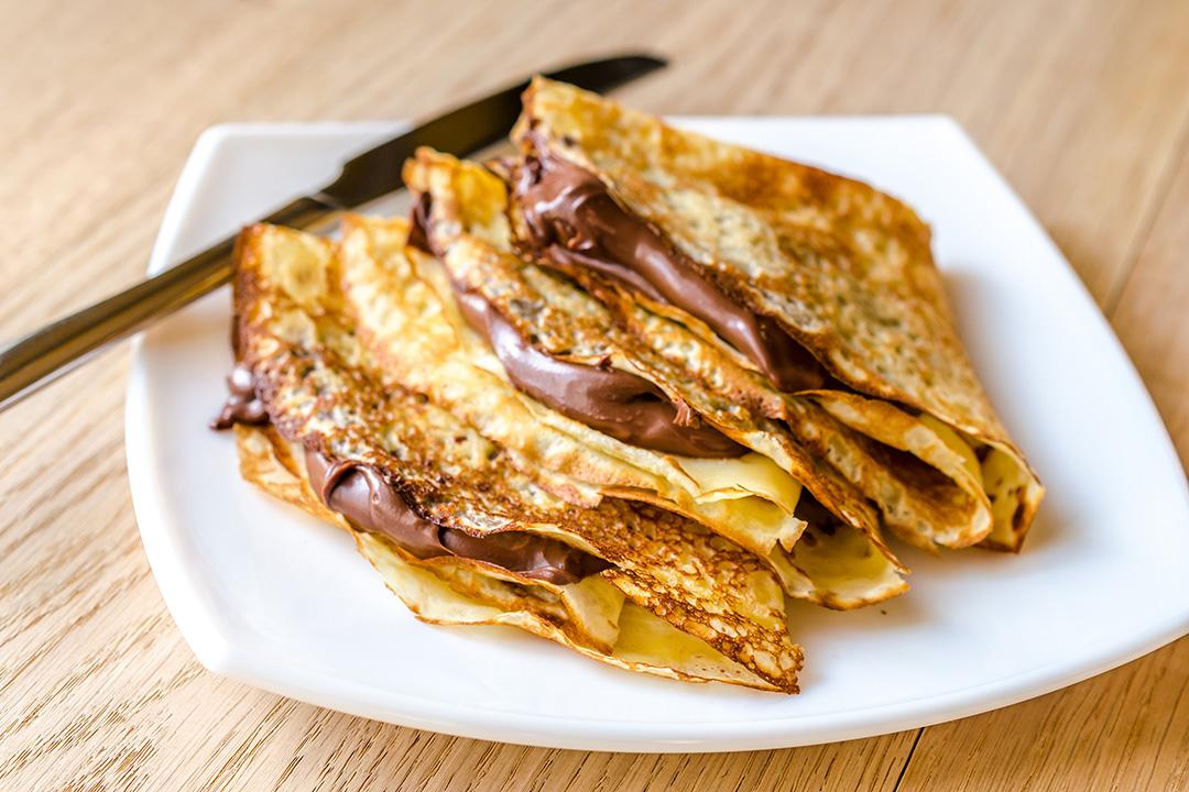 Pancakes Rellenos de Galleta de Chocolate