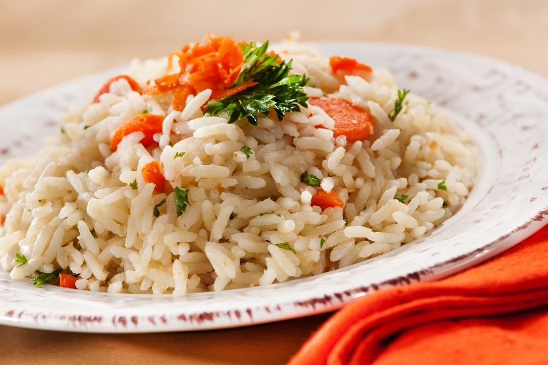 Arroz con mantequilla y zanahoria
