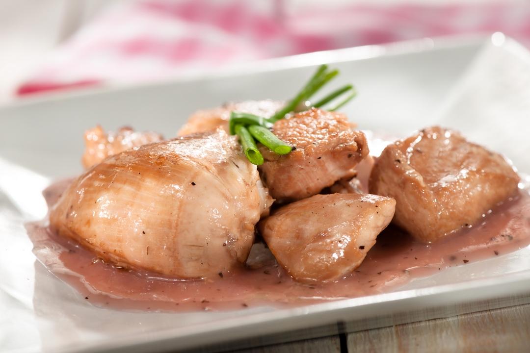 Pollo con salvia y cidra