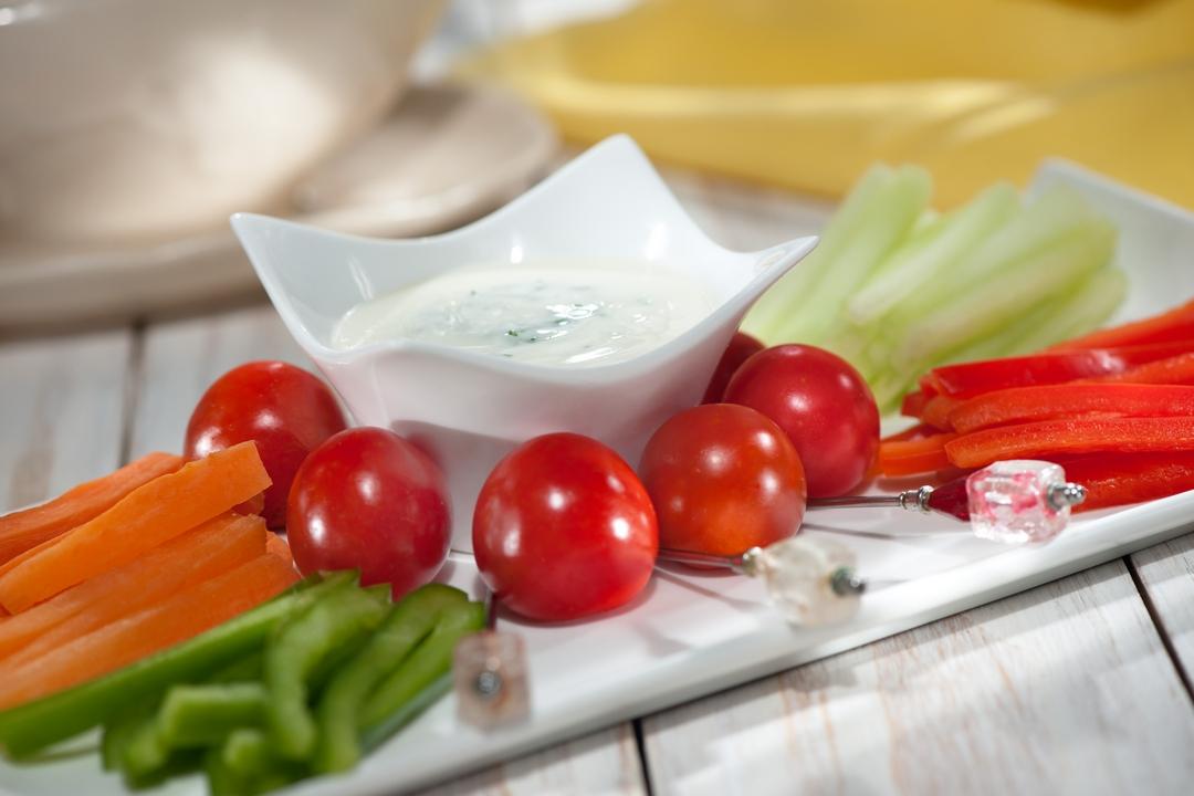 Vegetales en salsa de eneldo