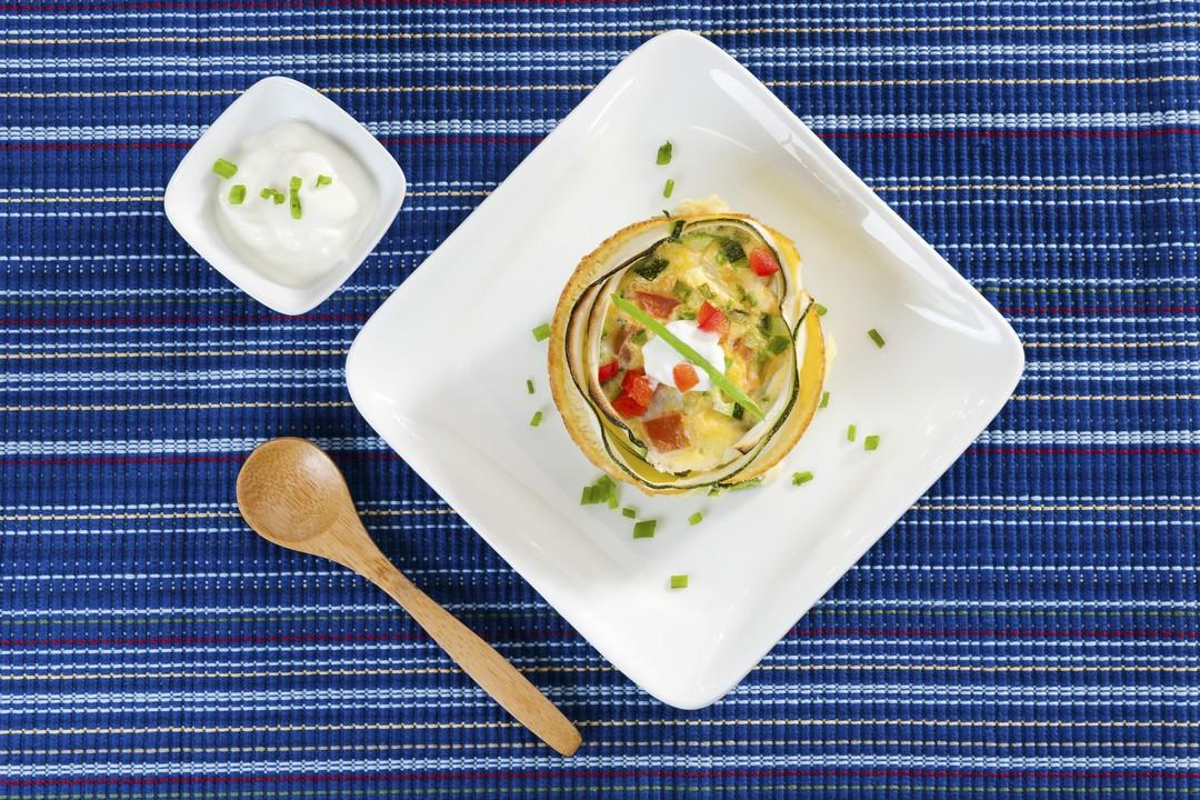 Canastitas de huevo y zucchini
