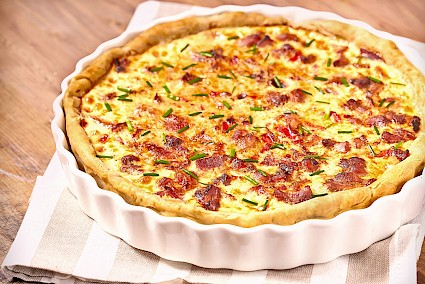 Quiche de Cheddar y Bacon