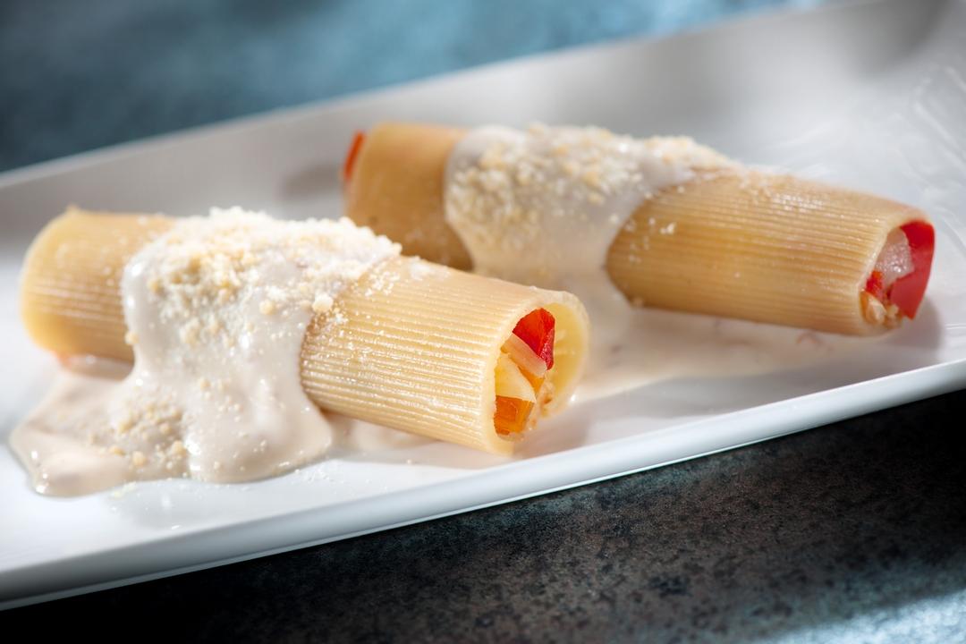 Canelones rellenos de pescado y camarones super pola for Canelones de pescado y marisco